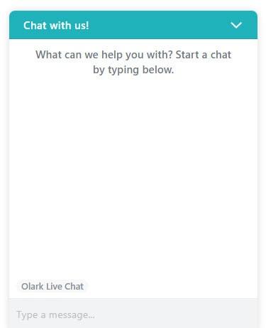 Olark Chat Window