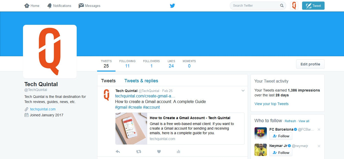 Tech Quintal Twitter Dashboard