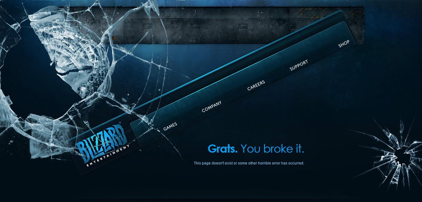 Blizzard Entertainment Nice Error 404 Page