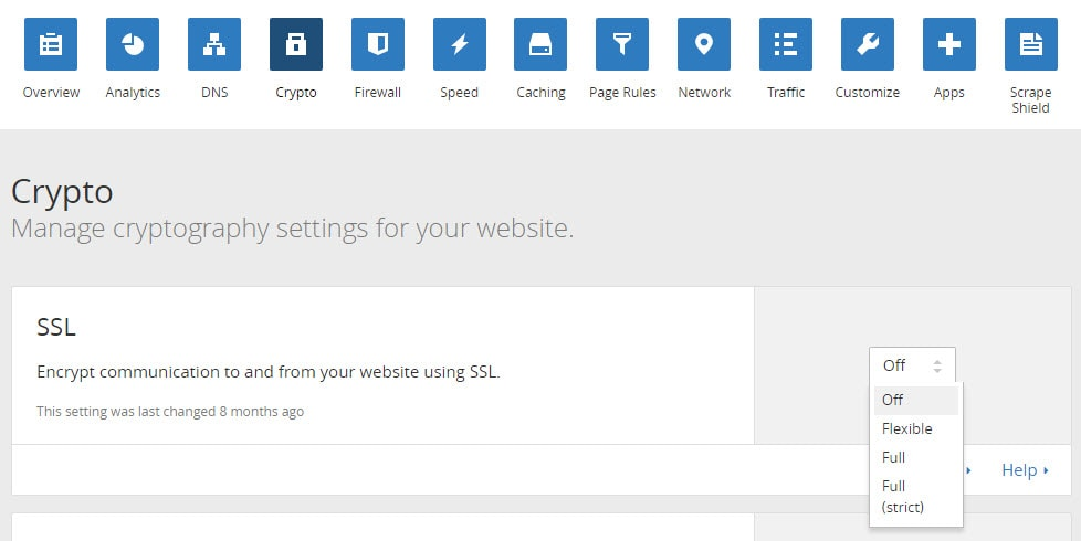 Cloudflare Crypto Tab for SSL