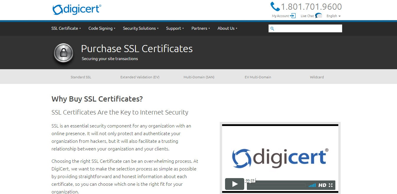 Digicert SSL Certificates