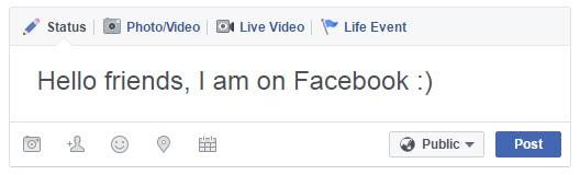 Facebook First Message