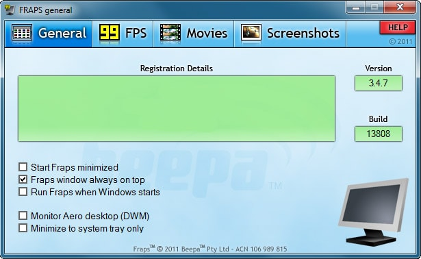Fraps Gameplay Recorder Software