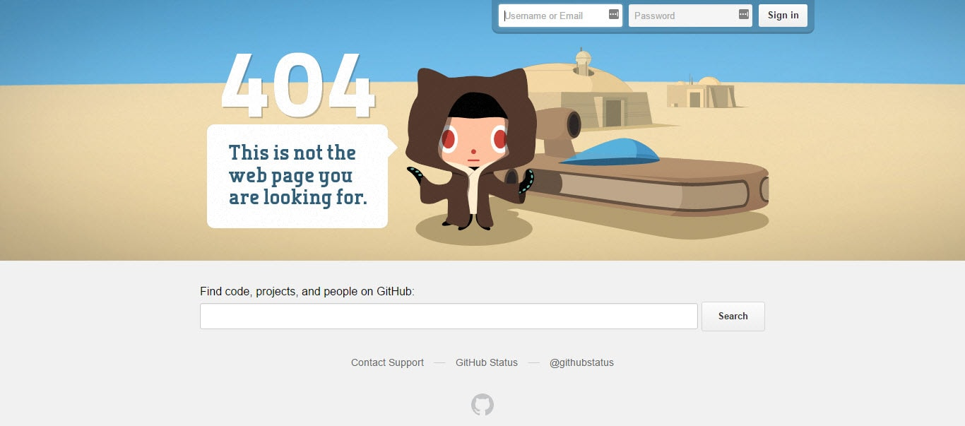 GitHub Best 404 Page