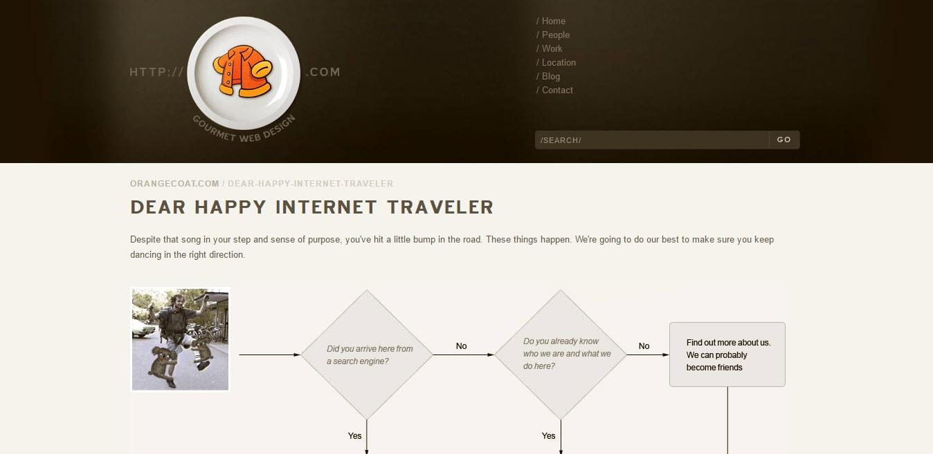 OrangeCoat Navigational 404 Pages for Website