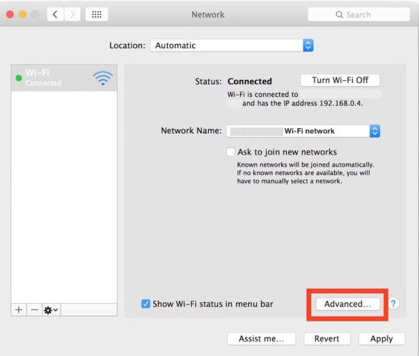 Change DNS Settings on Mac