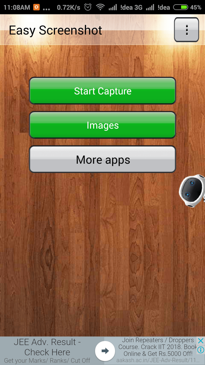 Screenshot App Interface