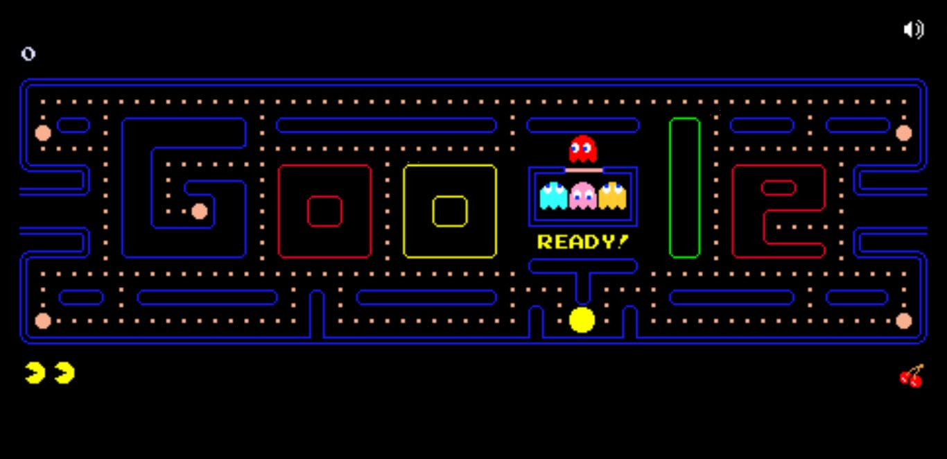 The first interactive doodle Pac Man