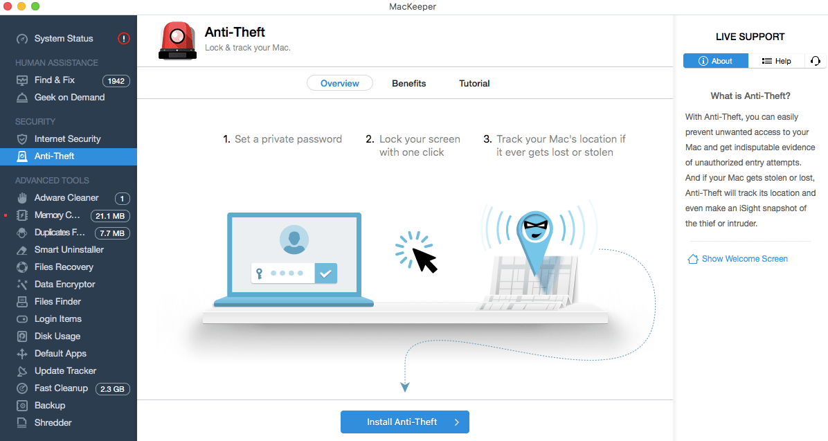 MacKeeper Anti-Theft