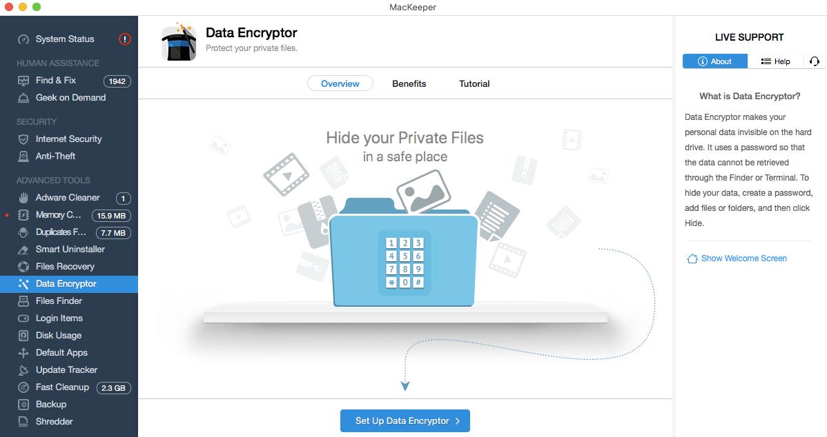 MacKeeper Data Encryptor