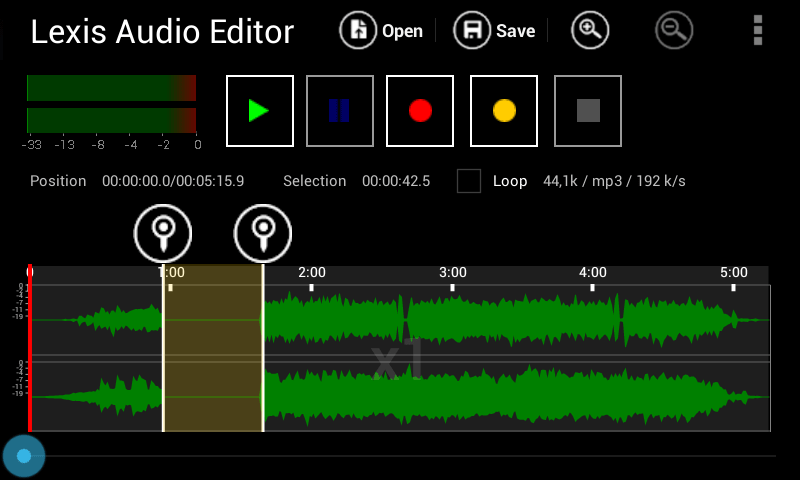 Lexis Audio Editor 1
