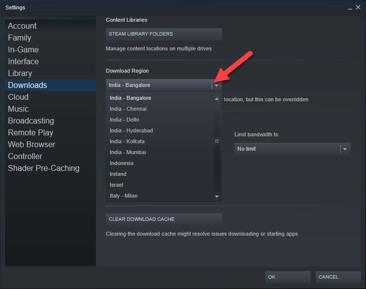 Change Download Location Steam